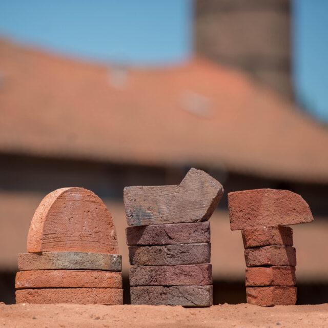 Various shapes of brick