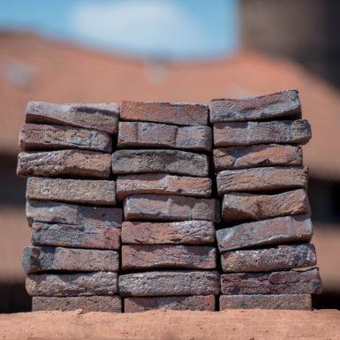 Antigoon blue sintered artistic road bricks